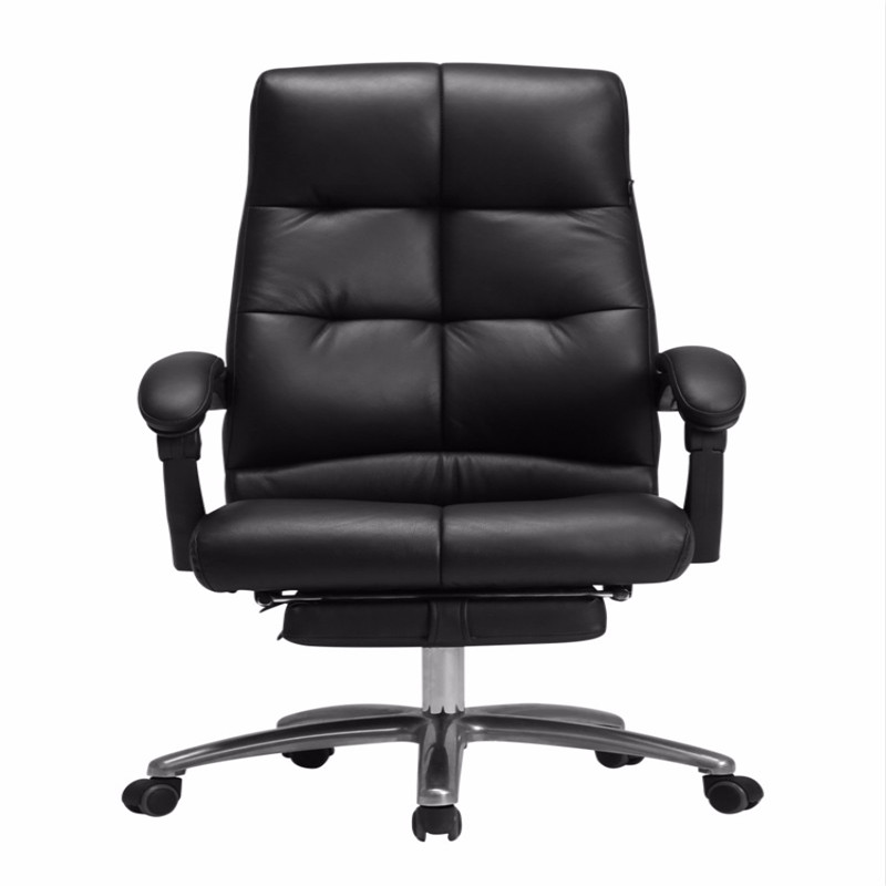 Executive Chair First Leather Boss Seat Business With Leg Rest Can Recliner Chair Office Seat Thickened Seat Modern Minimalist
