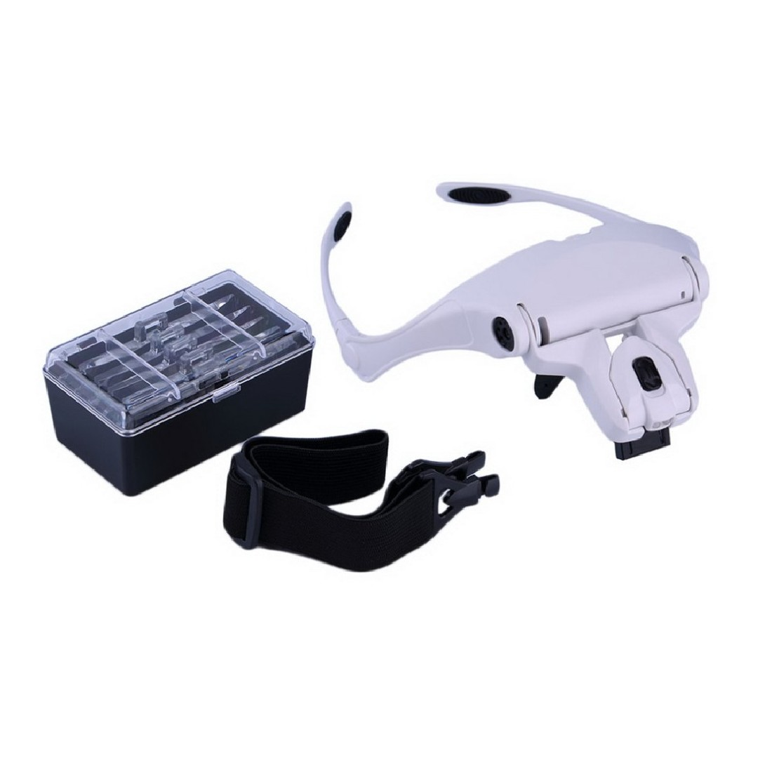 Kreative 1,0X1,5X2,0X2,5X3,5X5 Objektiv Einstellbar Lupe Stirnband Lupe Lupe mit LED Lupen