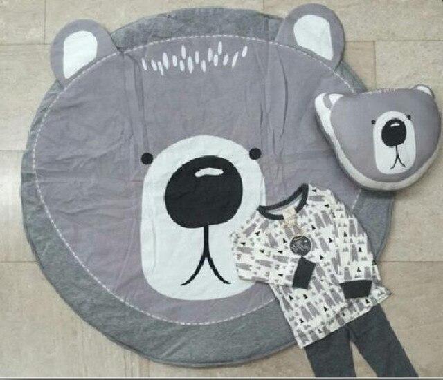 Симпатичный медведь Детское Одеяло Диван-Кровать Cobertores Мантас Покрывало Банные Полотенца Игровой Коврик Gif