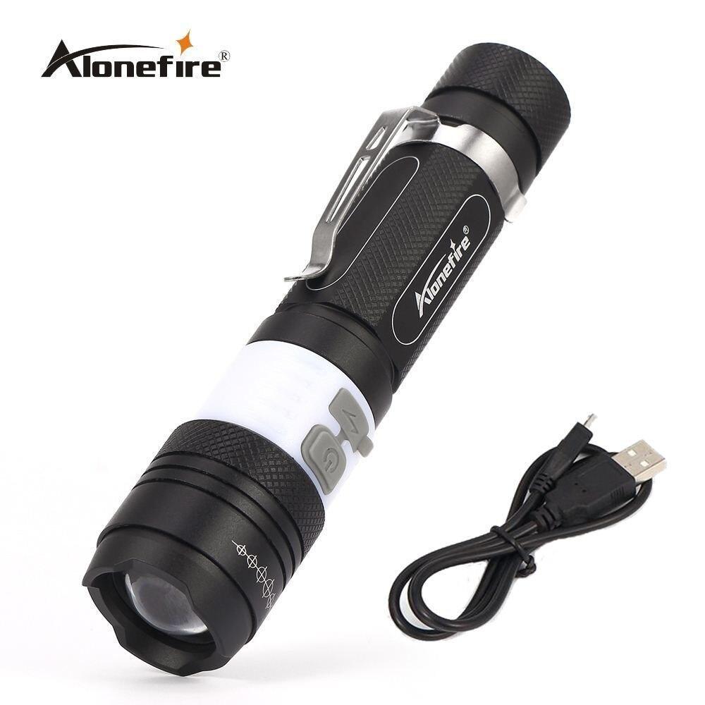 AloneFire X190 CREE T6 COB LED Flashlight Torch 3800LM 6 Mode Portable Waterproof Rechargeable Camping Bike Light Lamp Lanterna