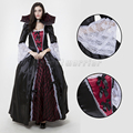 Halloween Luxury Vampire costumes evil queen gothic medieval victorian ball gowns black bat Witch cosplay lace dress for women