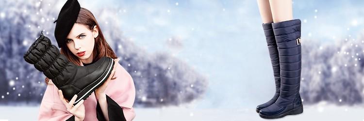 memunia/размер 35-44 женские зимние сапоги без шнуровки на танкетке женские зимние ботинки на меху до середины икры сапоги элегантные туфли