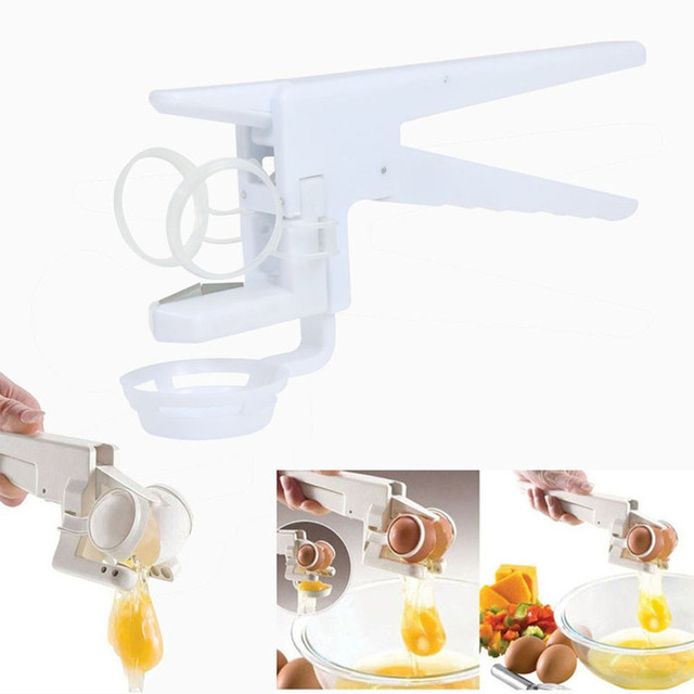 Hand Egg Beater Stiring Egg Cracker Handheld York White Separator Manual Egg Breaker Kitchen Accessories Gadgets Cooking Tools