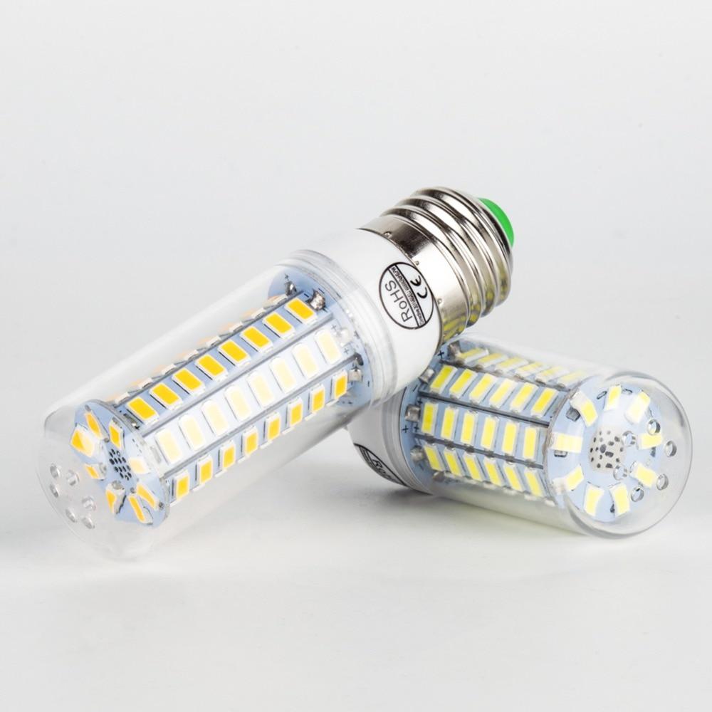 Купить с кэшбэком E14 LED Bulb Corn Lamp E27 LED light 220V Ampoule Led 3W lampada 5730 SMD 24 36 48 56 69 72leds Candle Light Bulb 5W Chandelier