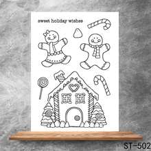 Sweet holiday blessing Transparent Clear Stamps DIY Scrapbooking Album Card Making Decoration Embossing Stencil
