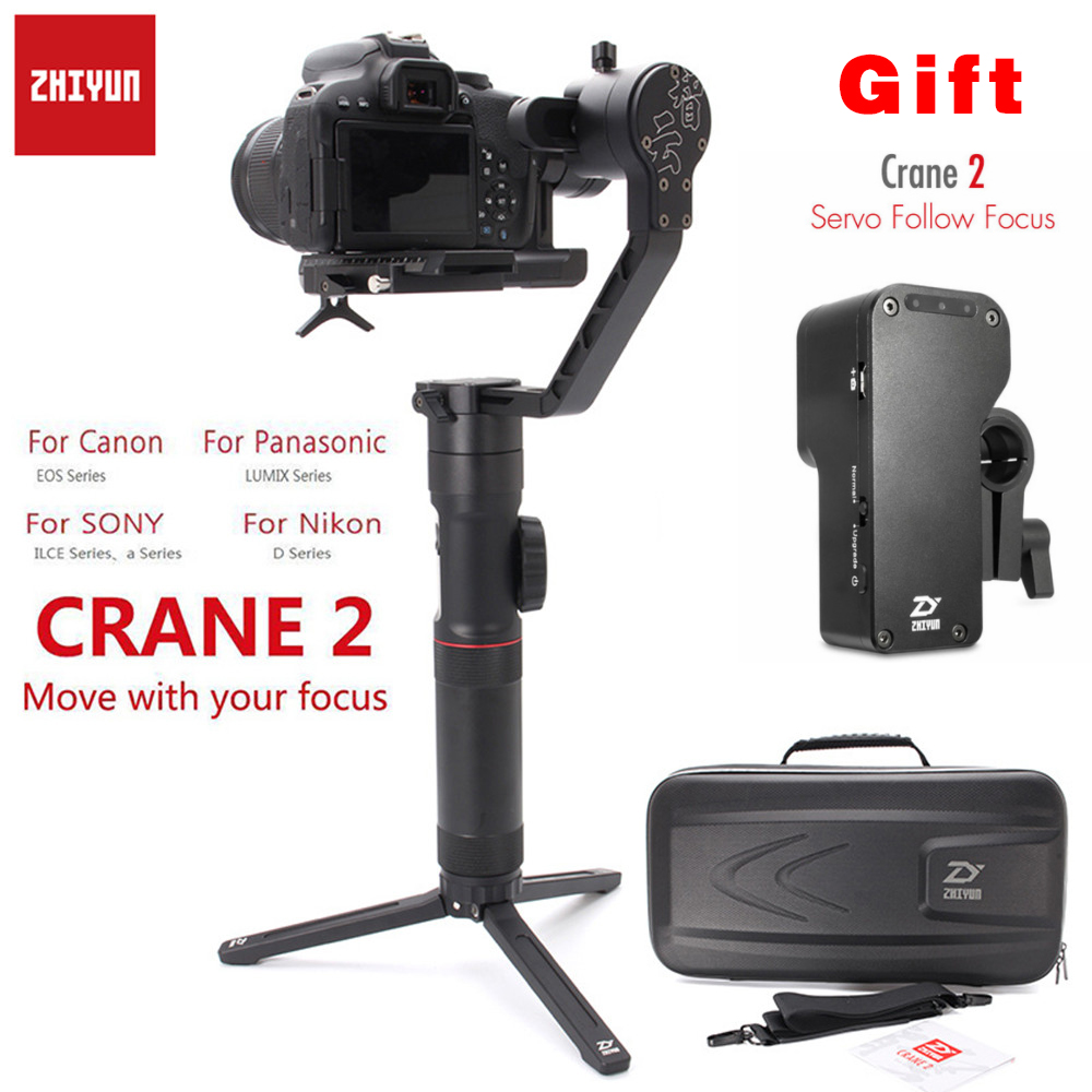 Zhi Yun Zhiyun Crane 2 3-Axis Handheld Gimbal Camera Gyro Stablizer for All Models of DSLR Mirrorless Camera for Canon 5D2 3 4 цена