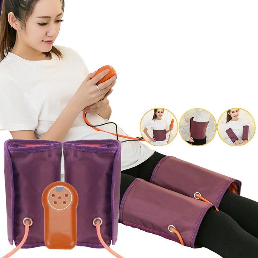 110-240 V électrique Air pression jambe masseur corps pied veau taille Circulation sanguine Vibration chaleur pneumatiques enveloppes Relax Massage