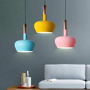 LukLoy Modern Colourful Pendant Light Pendant Lamp Cord Lamp for Bedroom Livin Room Kitchen Island Pantry Foyer Shop Cafe Bar