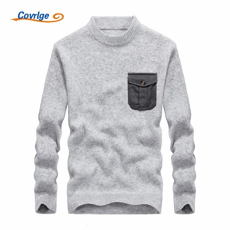 Covrlge 2017 font b Men s b font font b Sweaters b font Solid Color Semi