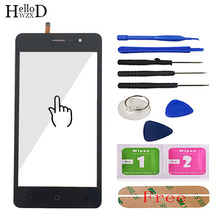 5.0 mobile mobile tela de toque móvel para doogee x10 touch screen vidro testado frente digitador vidro painel lente sensor ferramentas livre adesivo