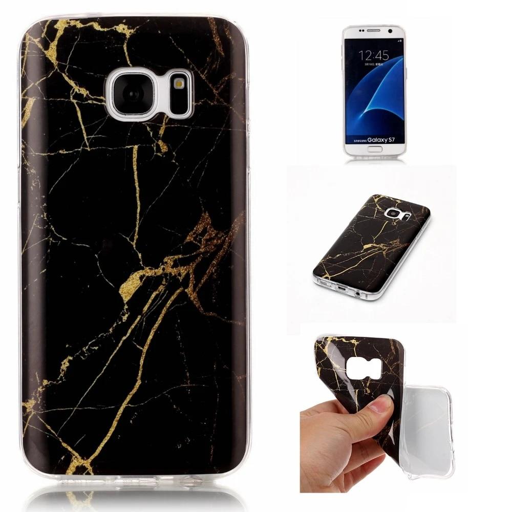 Styles de pierre de marbre pour Samsung S7 bord étui en Silicone housse pour Galaxy S7 étui pour Coque Samsung Galaxy S8 plus S8 Etui