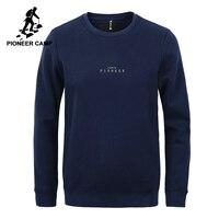 Pioneer Camp simple shirts hommes marque vêtements décontracté lettre survêtement homme top qualité hoodies pour hommes bleu foncé AWY702445