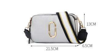 Classic Small Flap Women Bag With Canvas Strap 1