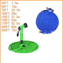 Hot Selling 25FT-150FT Garden Hose Expandable Magic Flexible Water Hose Plastic Hoses Pipe With Spray Gun To Watering