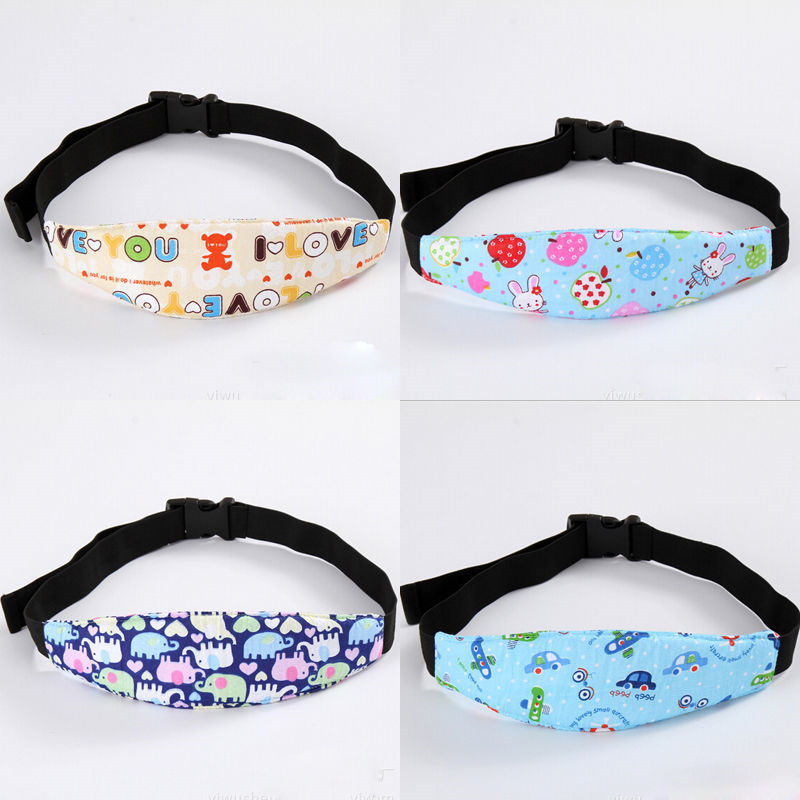 Adjustable Children safety Car seat sleep aid head support belt Floral Cotton Baby Accessories Newborn Baby Hat