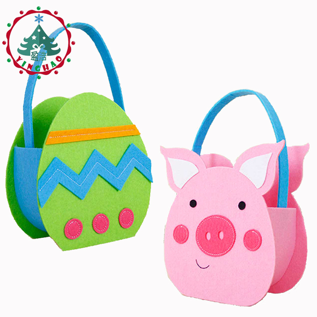 Inhoo easter decorations for home pink pig non woven fabrics gift inhoo easter decorations for home pink pig non woven fabrics gift bags easter egg birthday negle Images