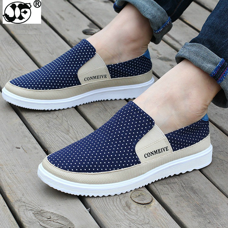 New Fashion Breathable Canvas Mens Shoes Lace-Up Solid Flats Spring Autumn Quality Casual Denim Canvas Shoes For Men