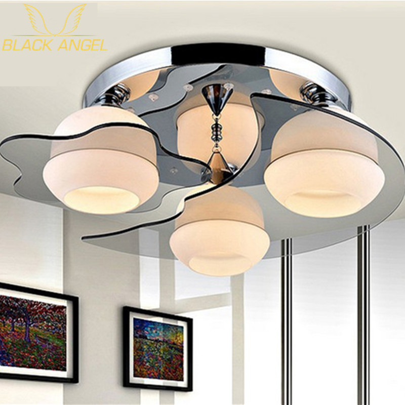 modern 3 acrylic ceiling lights lamp fixture for living room light and bedroom iron lamparas de teto Ceiling Lamp Free shipping 2017 lamparas modern children bedroom led chandelier cartoon little bee girls and boys study glass light fixture free shipping