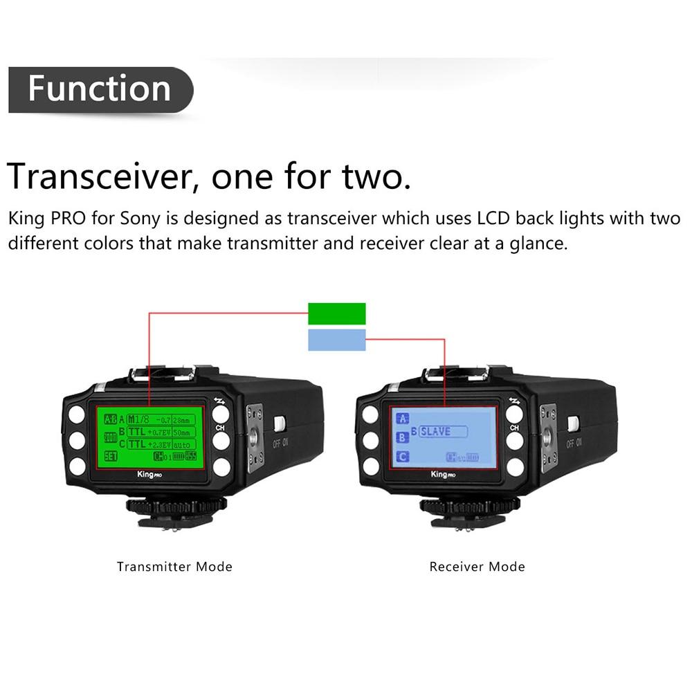 PIXEL KING PRO Flash Trigger үшін Sony A7 A7R A7RII A6300 A65 - Камера және фотосурет - фото 4
