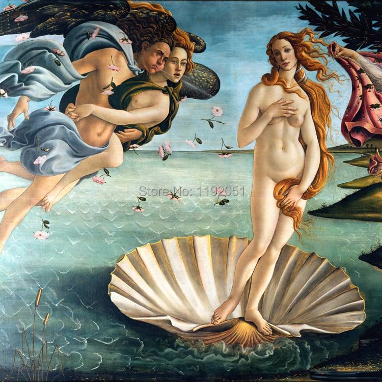 remekmű reprodukció meztelen Vénusz tájkép vászon tengeri - Lakberendezés