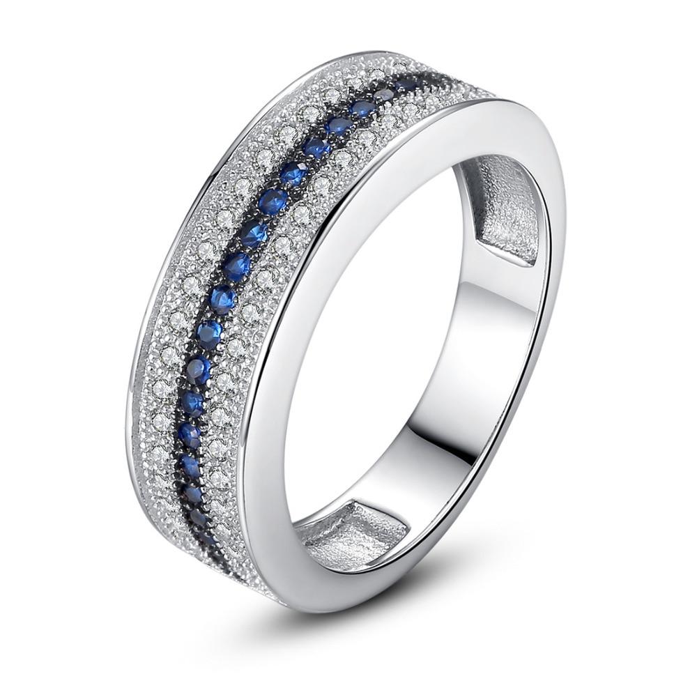 Begeistert Marcatsa Mode Drei Schichten Design Rotierenden Engagement Ring Klassische Blau Zirkonia Finger Ringe Für Frauen Partei Schmuck Schmuck & Zubehör Verlobungsringe