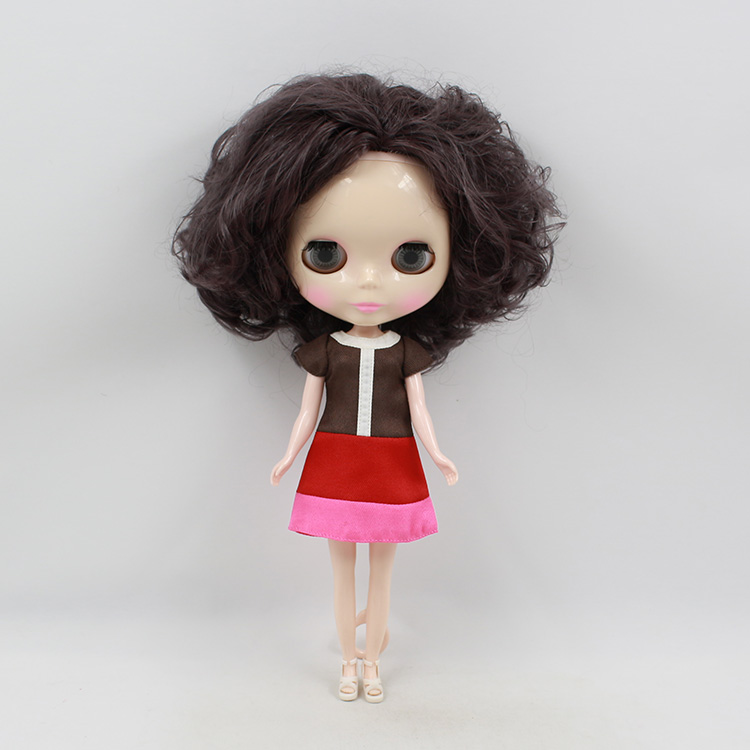ФОТО Nude blyth doll short curly hair blyth doll diy  birthday dolls for girls