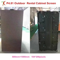 P4.81 outdoor waterproof 500*1000mm die casting aluminum cabinet led screen