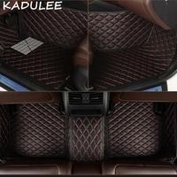 KADULEE PU leather car floor mats for Mitsubishi Outlander 2003 2016 2017 2018 Custom auto foot Pads automobile carpet cover