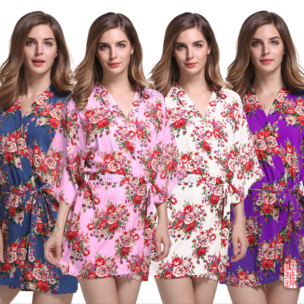 Women's Sleepwears Wedding Robes For Bridesmaids And Bride Robe Bridal Party Gowns Kimono Sexy Bridesmaid Robe Sleepwear Bridesmaid Robes Letter At Any Cost