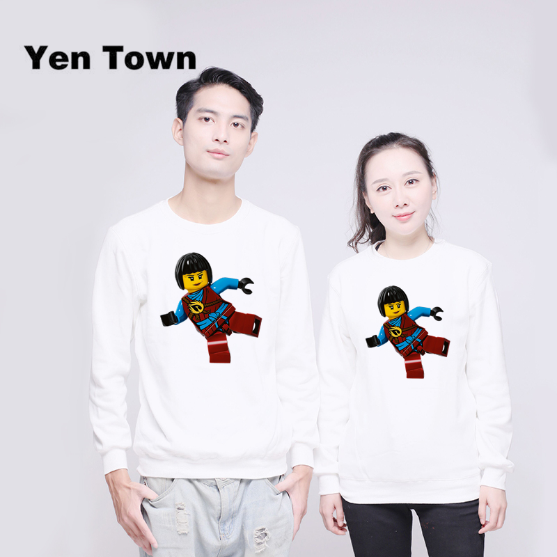 Audacious Yen Town Fashion Funny Lego Design Hoodies Unisex Jumper Sweats Warm Harajuku Sweatshirt Autumn Winter Pullover S-4xl Women's Clothing