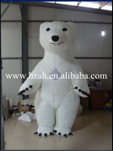 White Inflatable Bear Costumes for Advertising inflatable cartoon customized advertising giant christmas inflatable santa claus for christmas outdoor decoration