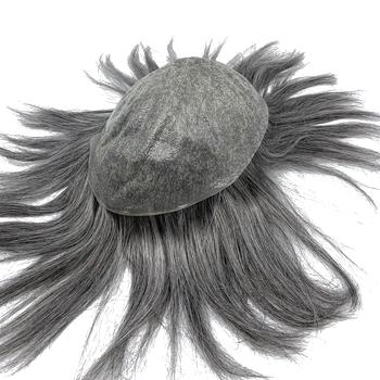 Peruka podstawa dla każdego kolor protezy do włosów do włosów dla mężczyzn splot magazynie darmowa wysyłka tanie i dobre opinie HRF Toupee = 60 6 miesięcy Pokój Knot Indyjski włosy 8*10inch Remy włosy 40mm middle
