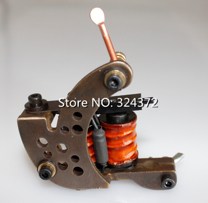 ФОТО professional brass wire 8 wraps liner manual handmade Cast frame Tattoo Machine Gun
