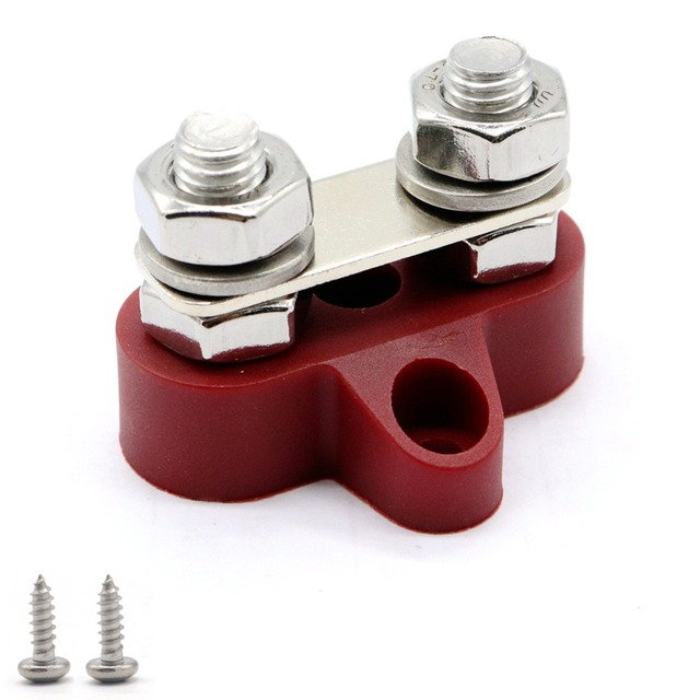 M8/M6 spiral fixed cable wire connector red black for truck RV yacht boat