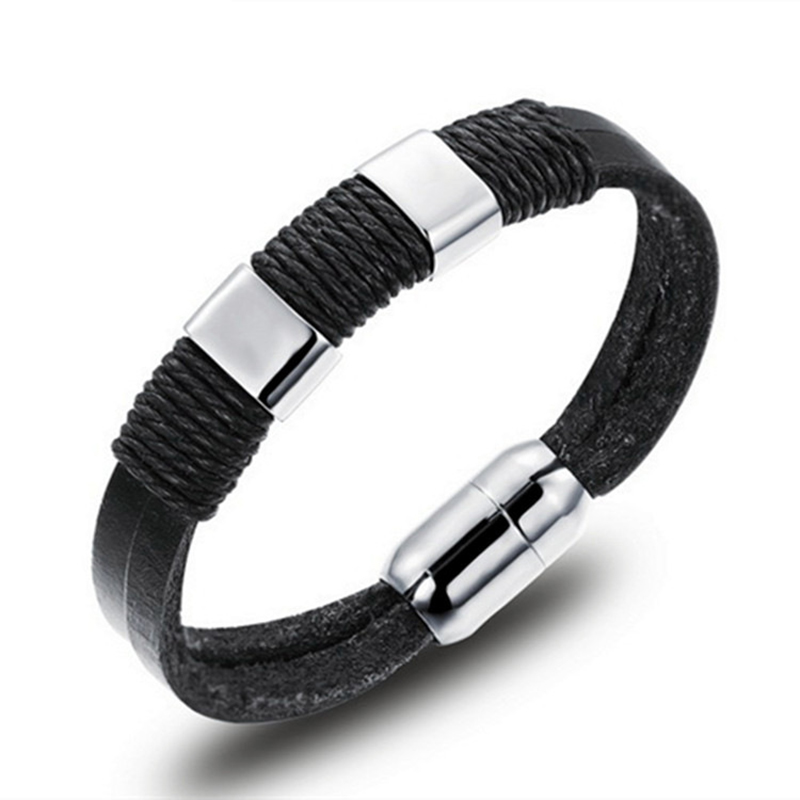 Viking Bracelet Limited Top Fashion Men Trendy Round Pulseira Feminina Pulseiras Carter Love Bracelet Mens Leather Three-layer