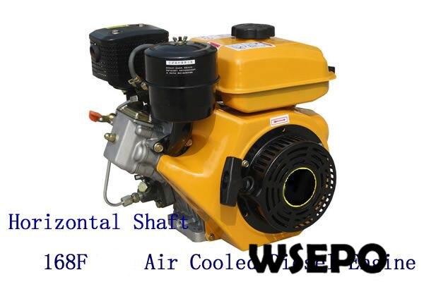 ¡Suministro directo de fábrica! WSE-168F motor diésel pequeño refrigerado por aire, eje Horizontal, potencia máxima de kW, HP, con aprobación CE