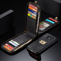 CaseMe Genuine Leather Retro Phone Case For Samsung Galaxy S7 Edge S7 Cases Magnetic Multifunctional Wallet