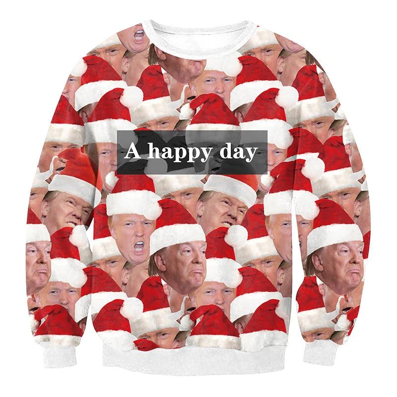 Christmas Jumper Day 2019.Us 12 99 40 Off Unisex Men Women 2019 Ugly Christmas Sweatshirt Vacation Santa Elf Funny Christmas Fake Hair Jumper Autumn Winter Tops Clothing In