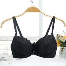 2018 Women Embroidery Floral Bra Top Lace Super Push Up Adjusted-straps Lingerie Brassiere