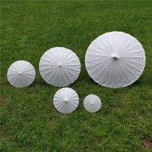 30 шт., свадебные зонты для невесты, белые бумажные зонты, китайский мини-зонтик, 4 диаметра: 20,30, 40,60 см, свадебные Зонты JF
