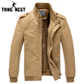 TANGNEST Popular 2017 New  Men Jacket Plus Velvet Thickening Fluffy Top Quality Armygreen/Khaki M-XXXL Wholesale&Retail MWJ193
