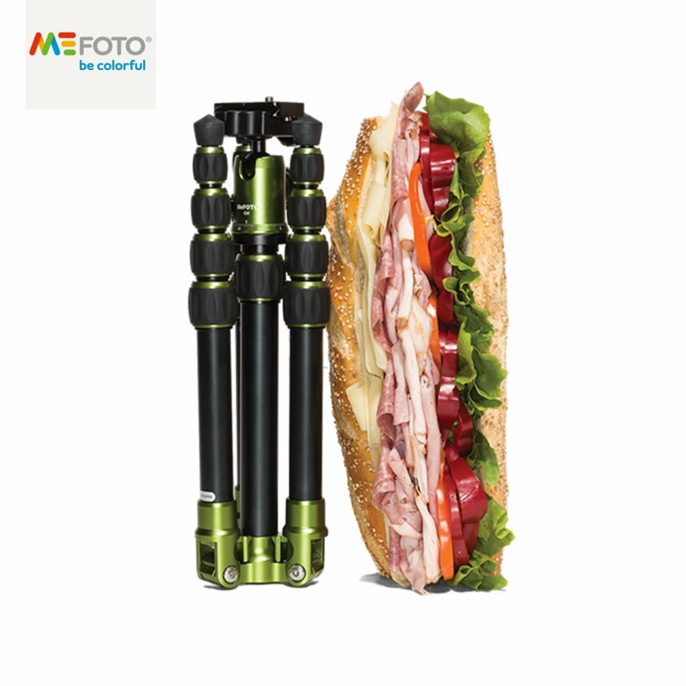 Brand New MeFOTO Classic Backpacker Aluminum Travel Tripod Kit Professional Tripods Max Loading 4 2kg for