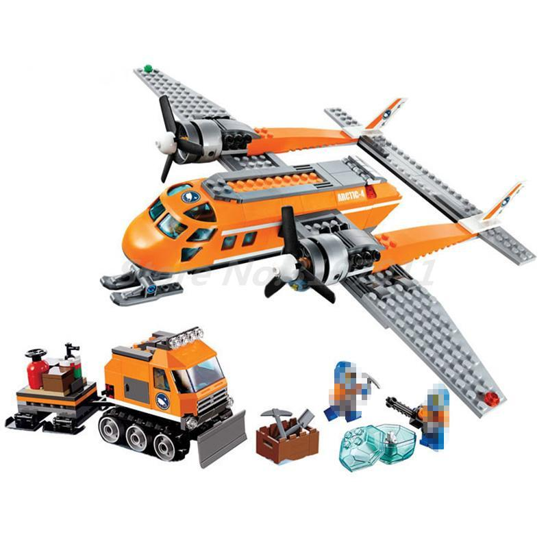 BELA 10441 Action Figure Arctic Supply Plane 60064 Building Blocks Model Sets Toys For Children Christmas Gifts