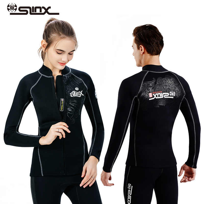 44c7530597fb SLINX 2mm neoprene wetsuit jacket/pant for men diving snorkeling jacket swimming  surfing top clothes