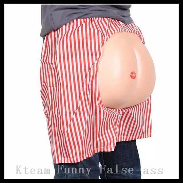 be7e2f7df7d placeholder Free Shipping Cosplay Funny Big Ass Bare buttocks Uncovered  Short Cosplay Goods Costume Fake Hip Hallowmas
