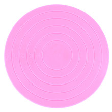 Small Cake Revolving Turntable Decoration Stand Round Platform Rotating Baking Cake Display Plate Tools Pink(China)