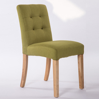Fashion Solid Wood Fabric Western Dining Chairs Hotel Cafe Chairs Simple Washable Cloth Ding Chair