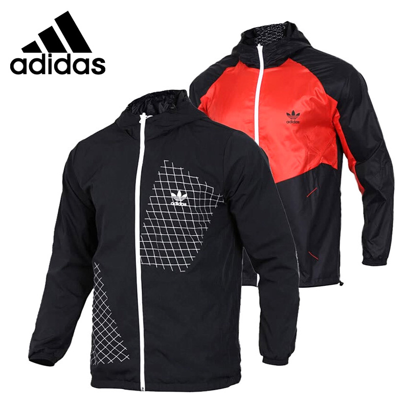 Original New Arrival 2018 Adidas Originals D REV WB JACKE Men's jacket Hooded Sportswear (Reversible) gas топ без рукавов