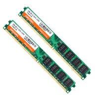 SHUOHU RAM DDR2 2 GO 4 GO 800 MHZ 667MHZ RAM 4 GO = 2 pièces * 2G 1.8V 240pin PC2-6400U 5300U CL5 pour intel ordinateur de bureau de mémoire RAM SO-DIMM