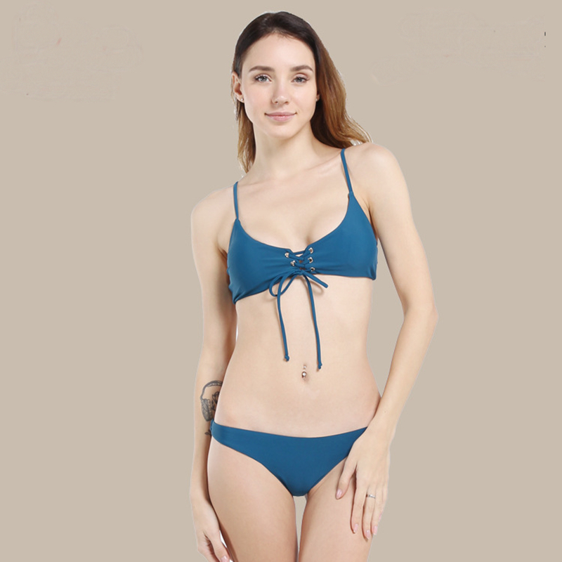 Women sexy Solid Swimwear string Swimsuit Sexy Beach Dress bathing suit women Brazilian bikinis mujer 2019